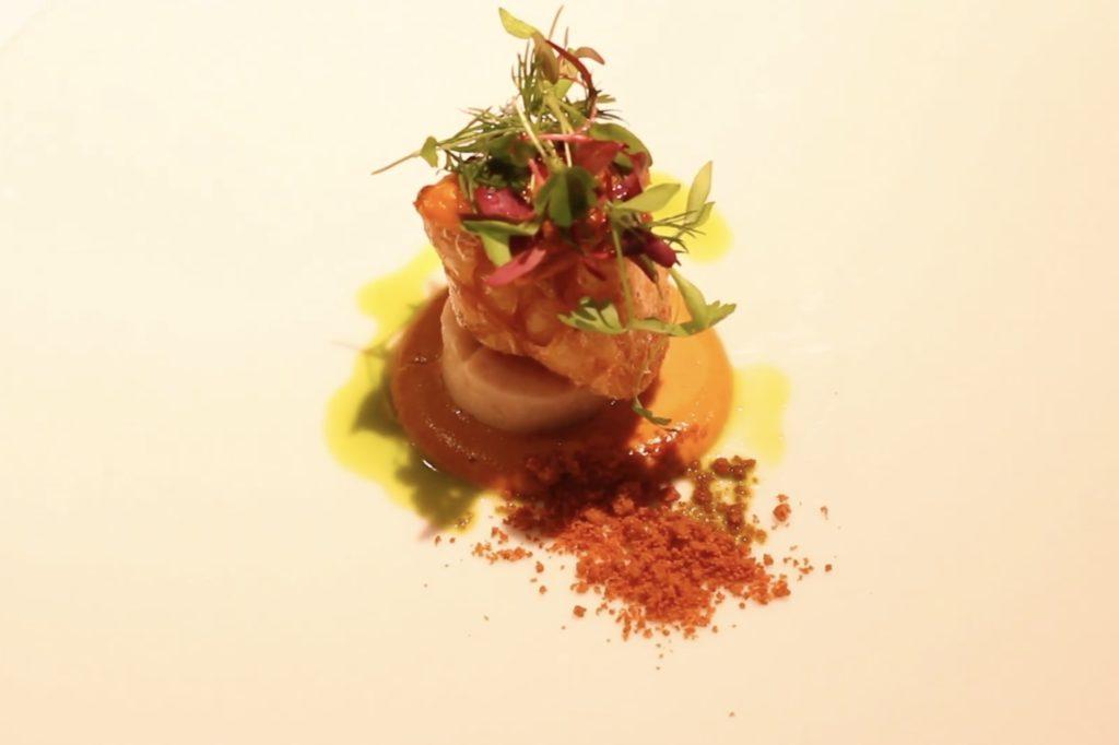 百合根のムニエル 雲丹のソース|レストラン ディファランス|Foodionテクニック動画まとめ