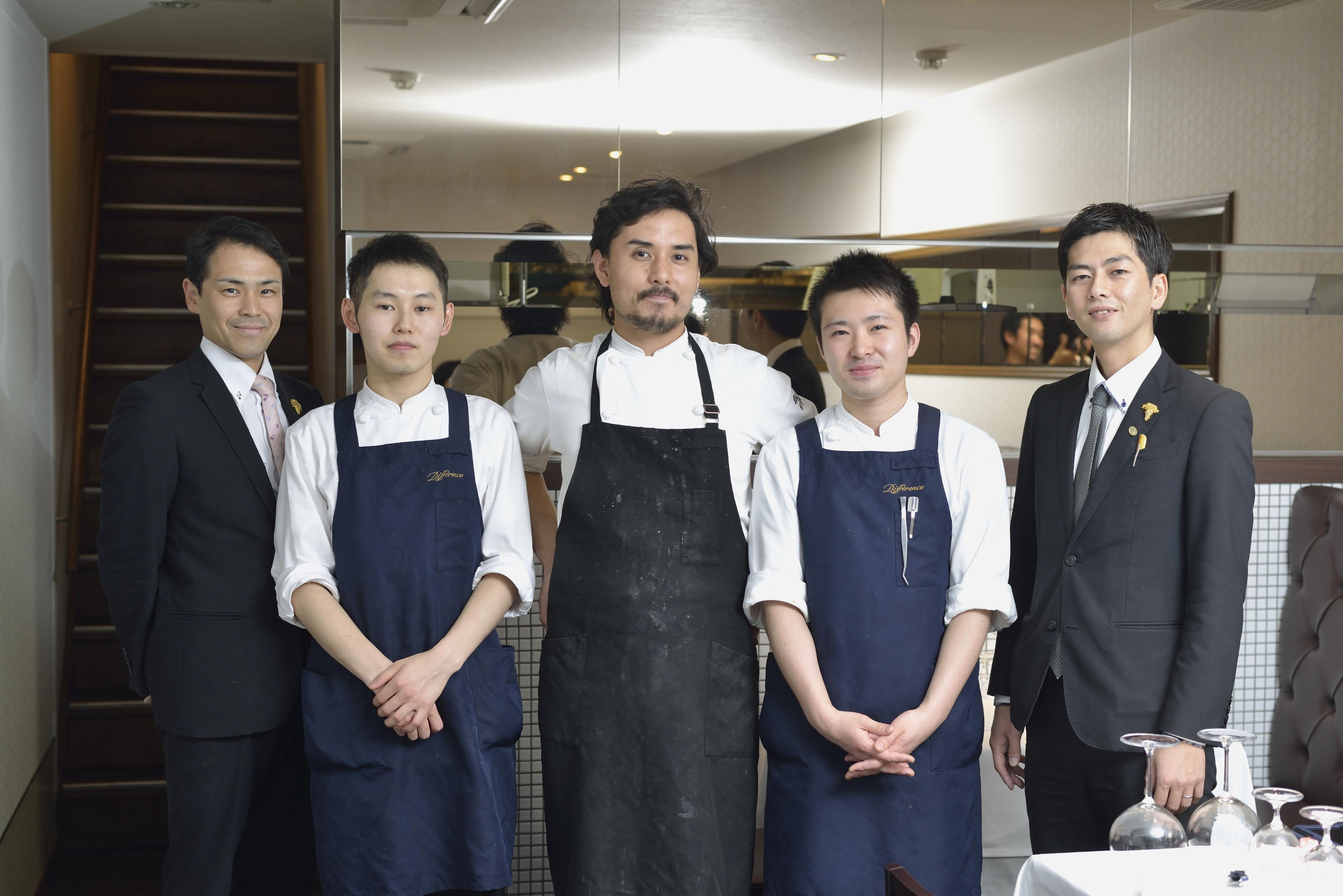 Différence Yoshiaki Fujimoto & staff