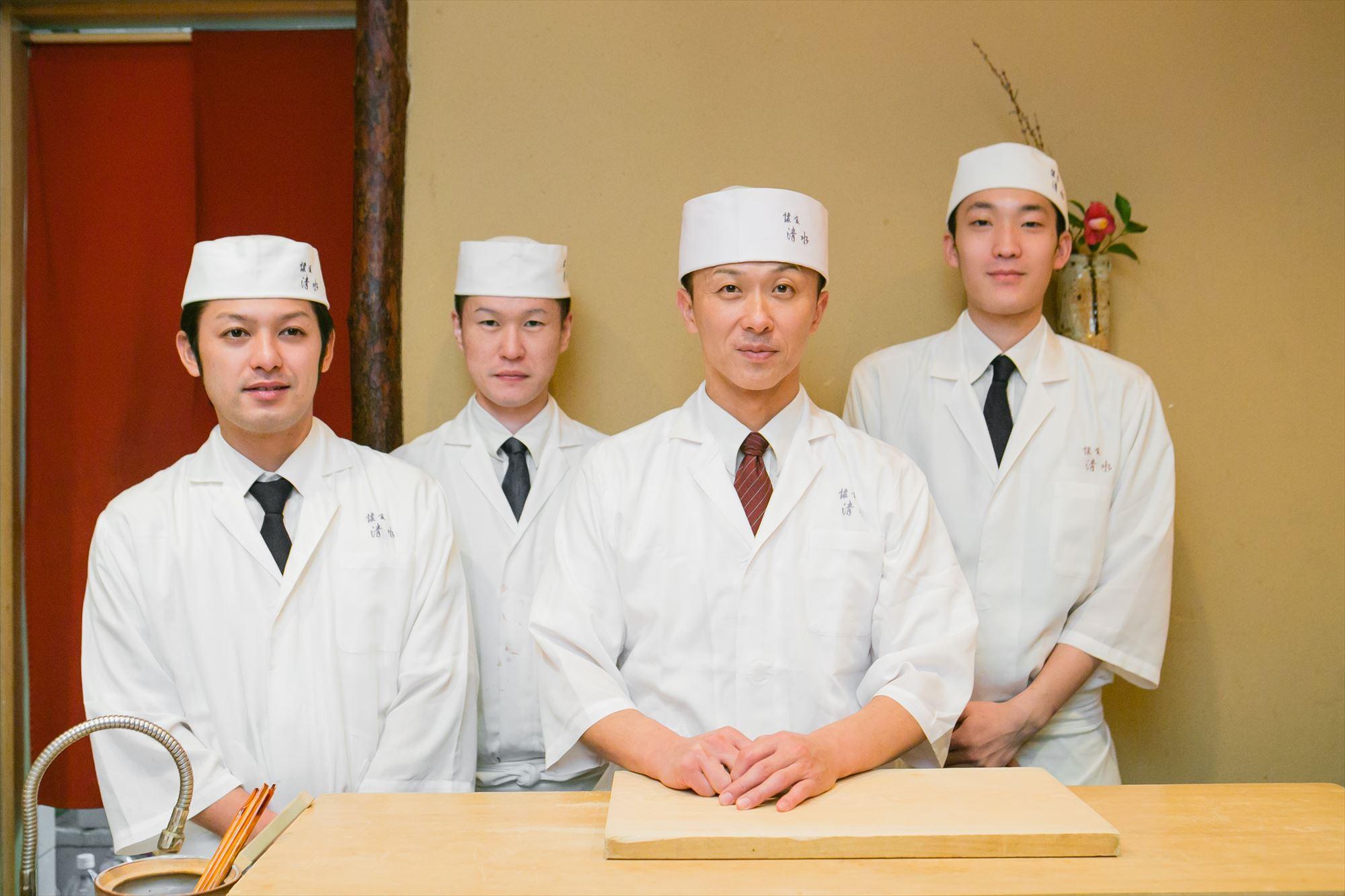 Kaishoku Shimizu Toshihiro Shimizu & staff