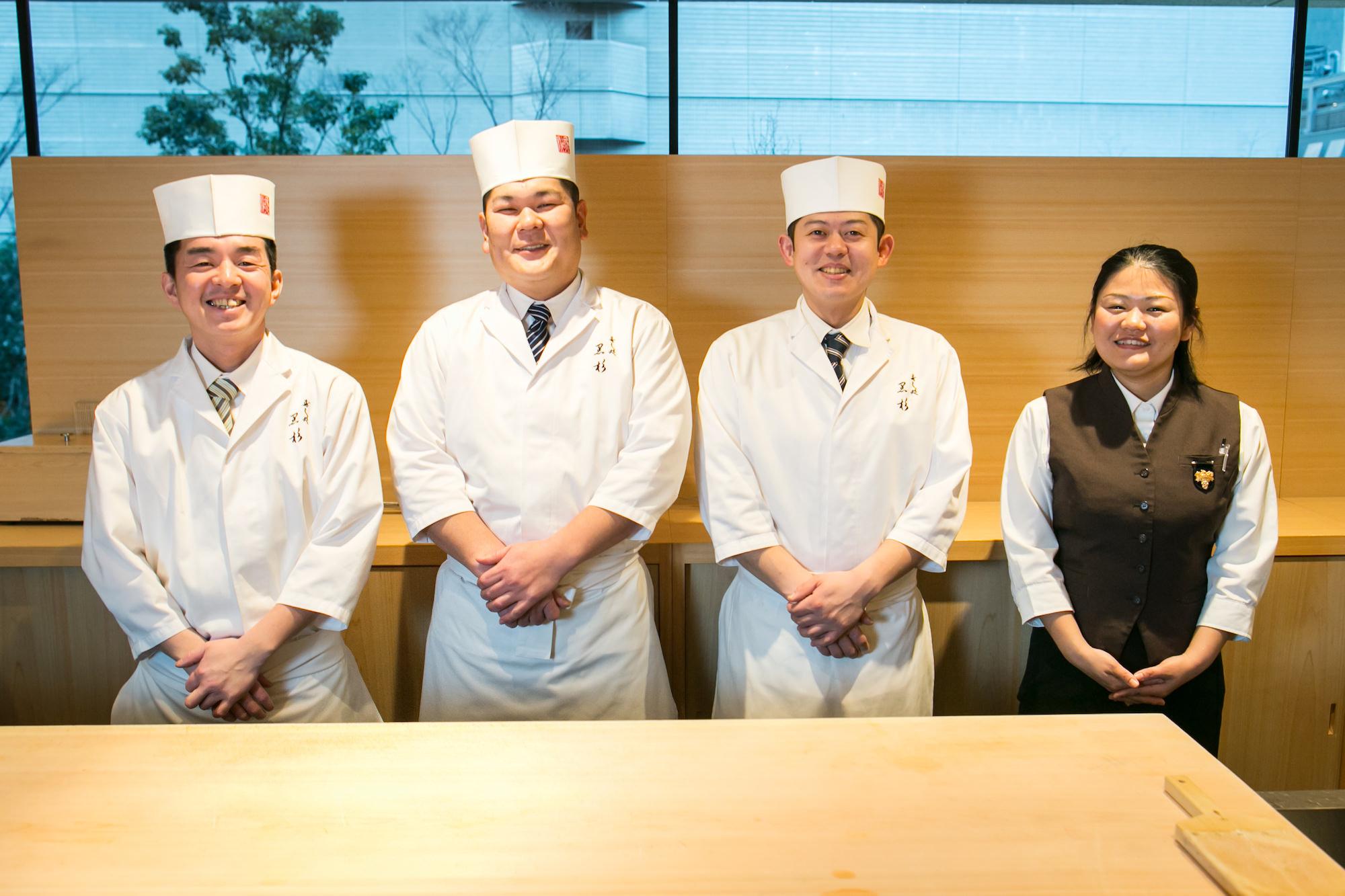 Sushidokoro Kurosugi Akihiro Kurosugi & staff