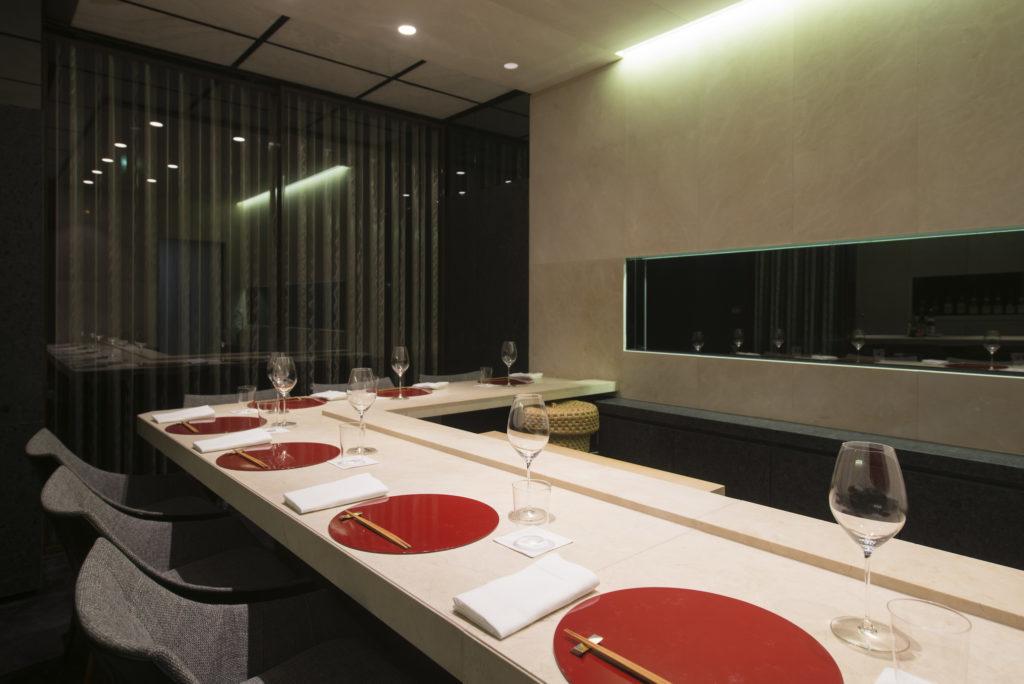 Sushi B Paris table set
