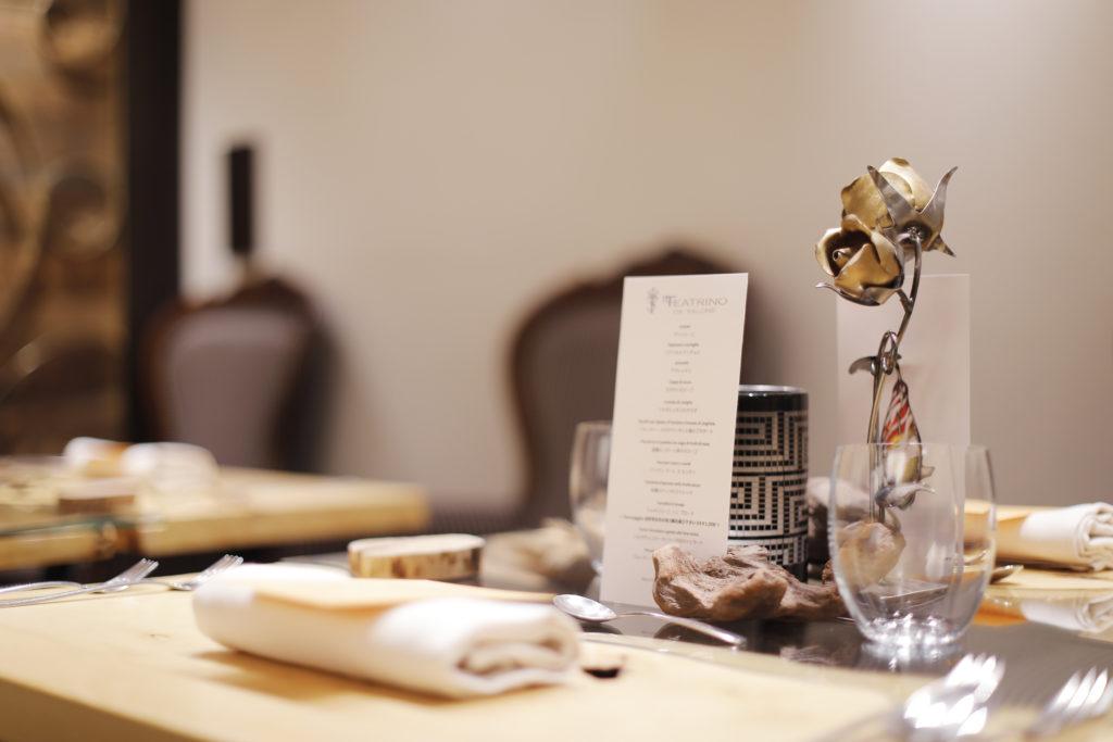 IL TEATRINO DA SALONE Table set