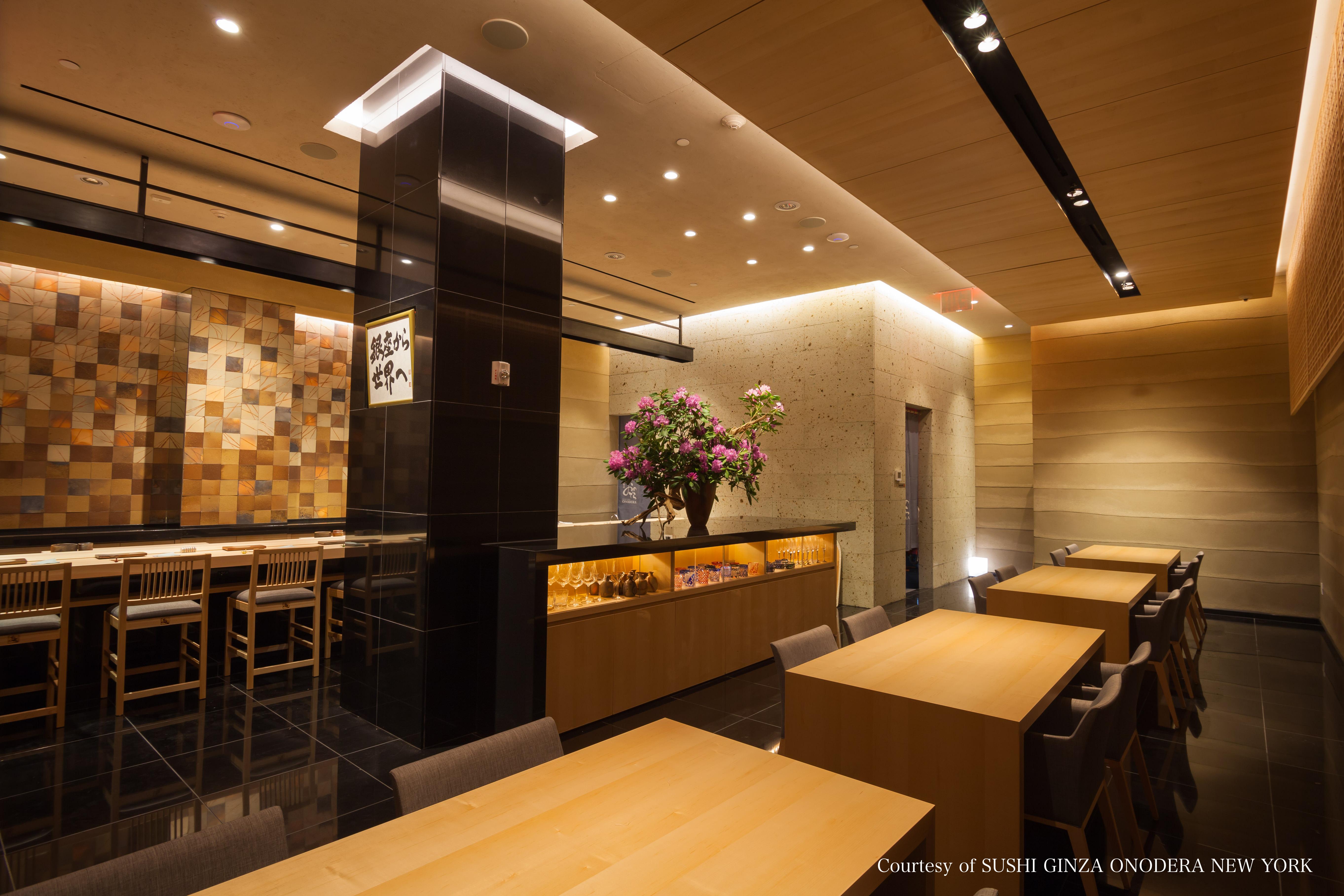 SUSHI GINZA ONODERA NEWYORK interior