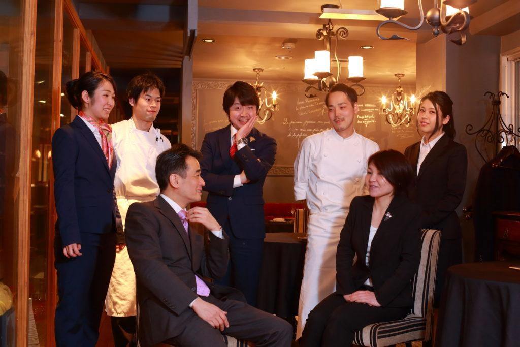 Restaurant Aromes Kazumi Okabe & staff