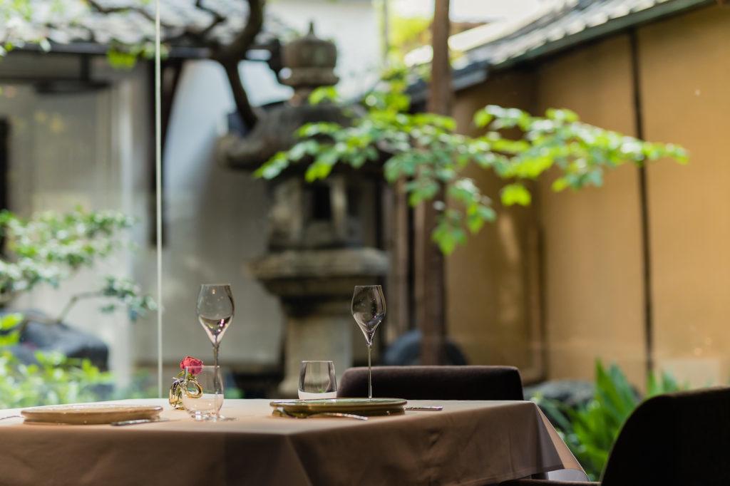 Restaurant MOTOI table set
