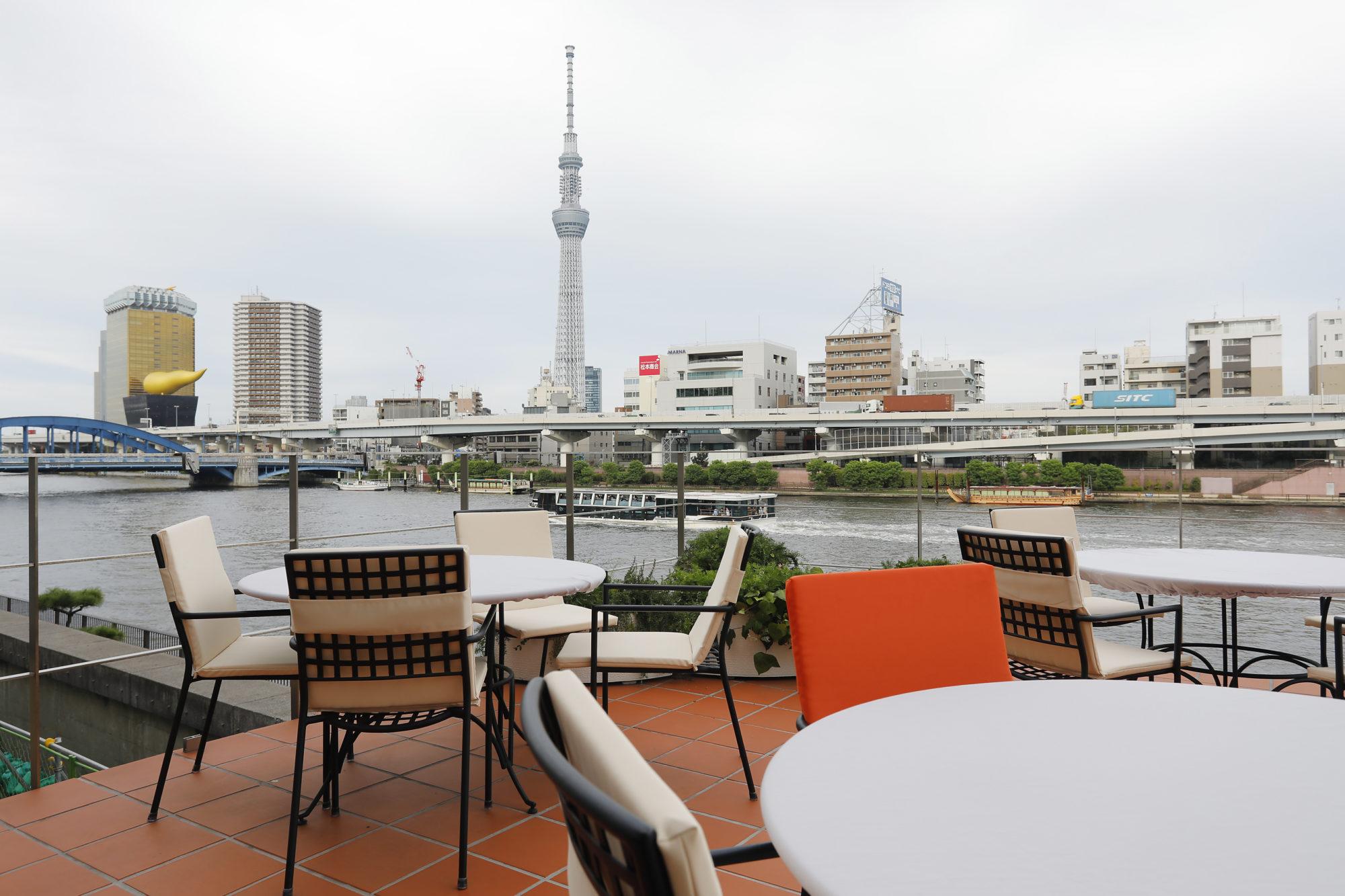 Nabeno-Ism(ナベノイズム)東京スカイツリーを望むことのできるテラス