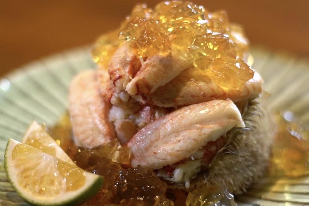 Hairy crab with jelly│ Nagahori