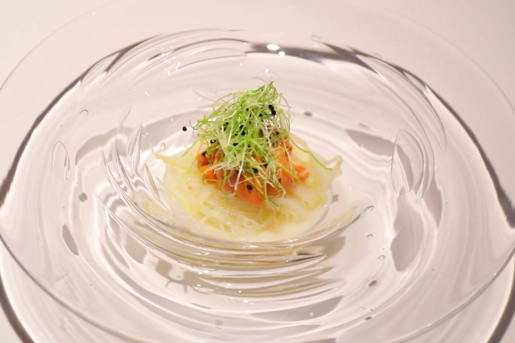 Salad of White Asparagus and Rice Noodle│ Restaurant MOTOI