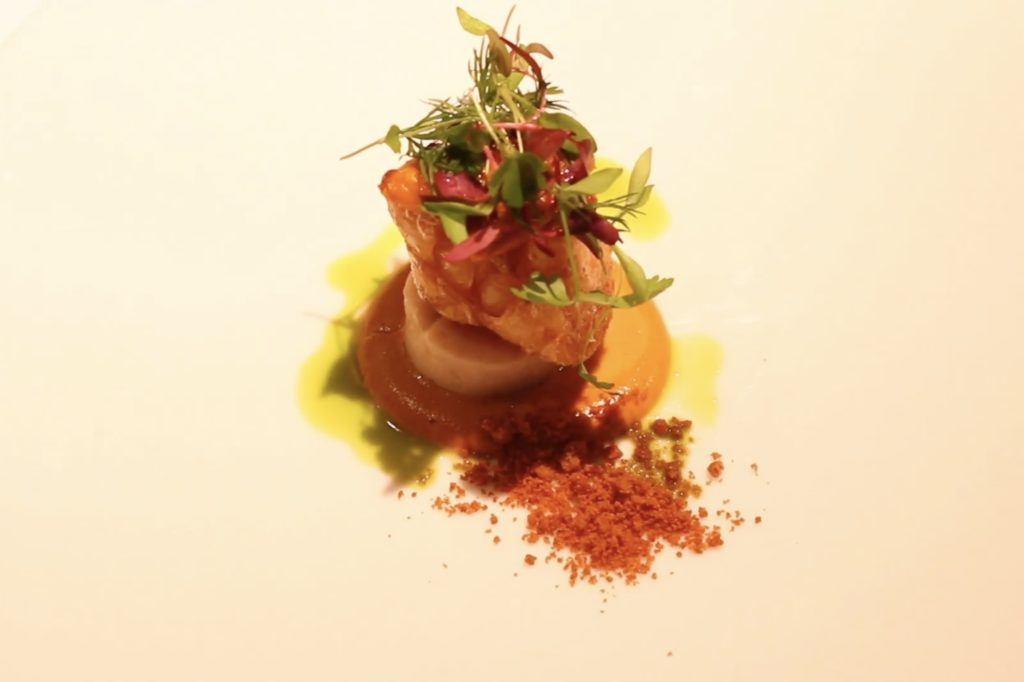 Lily bulb meunière and sea urchin sauce │ Restaurant Difference