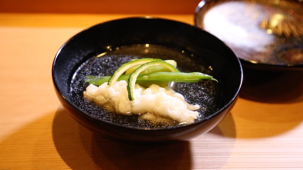 鱧のお吸い物 老松 喜多川