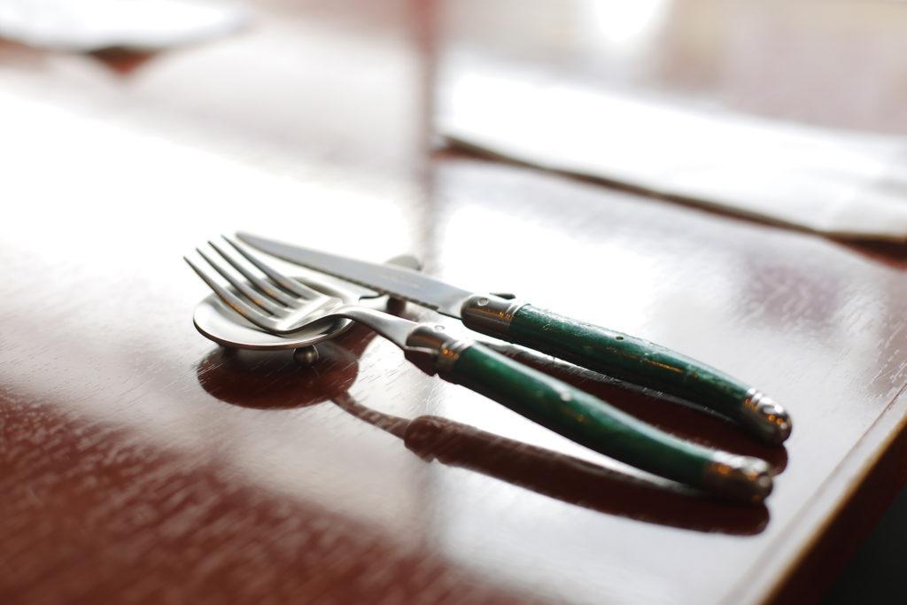 フォームとナイフの写真